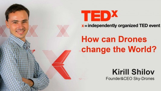 Sky-Drones CEO Kirill Shilov at TEDx