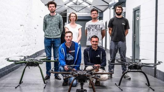 Sky-Drones Visit Clogworks HQ